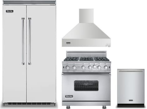 Viking Vireradwrh974 4 Piece Kitchen Appliances Package With Side By