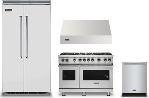 Viking Vireradwrh993 4 Piece Kitchen Appliances Package With Side By