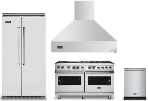 Viking Vireradwrh1063 4 Piece Kitchen Appliances Package With Side By Side Refrigerator Dual Fuel Range And Dishwasher In Stainless Steel