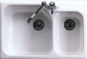 Rohl Allia 6317 - White (Faucet and Strainer Not Included)