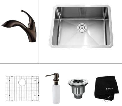 Kraus Kitchen Combo Series KHU10123KPF2210KSD30ORB - Oil Rubbed Bronze Faucet