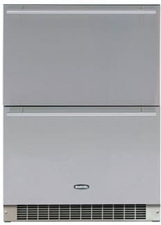 "Marvel Outdoor Series 6ORDESSB - 24"" Outdoor Double Drawer Refrigerator"