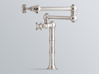Rohl Country Kitchen Collection A1452LPAPC2 - Satin Nickel (Cross Handles Shown)