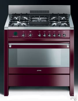 Smeg Opera A1U6 - Glossy Red Wine