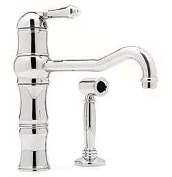 Rohl Country Kitchen Collection A3479LPWSSTN2 - Polished Chrome (Metal Lever Shown)