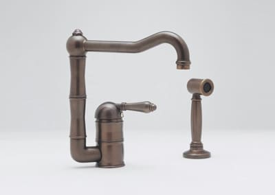 Rohl Country Kitchen Collection A3608LPWSAPC2 - Tuscan Brass (Metal Lever Shown)