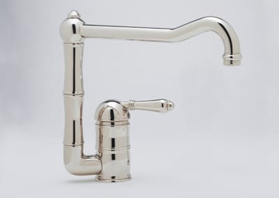 Rohl Country Kitchen Collection A360811LPSTN2 - Polished Nickel (Metal Lever Shown)