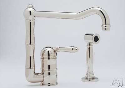 Rohl Country Kitchen Collection A360811LPWSSTN2 - Polished Nickel (Metal Lever Shown)