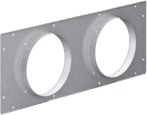 "Gaggenau AD754045 - Connection Piece For 2"" x 6"" Round Ducts"