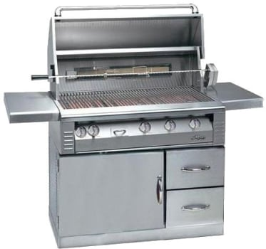 "Alfresco LX2 ALX242SZRFGLP - 42"" Gas Grill with Refrigerated Base and Sear Zone"