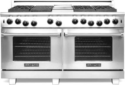 American Range Performer Series ARROB660GDGRN - 6 Burners, Griddle and Grill