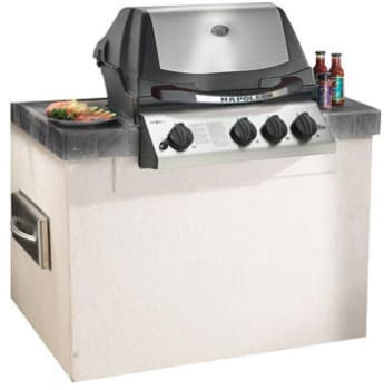 Napoleon Ultra Chef Series BIU405RBSS3 - Featured View with Custom Built Cabinet