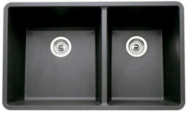 Blanco 441128 33 Inch Undermount Double Bowl Granite Sink