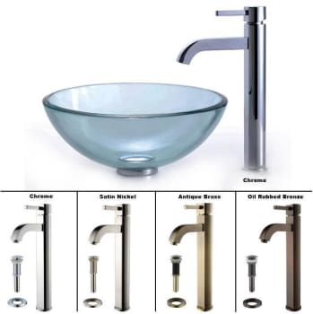 Kraus Clear Series CGV1011412MM1007SN - Ramus Faucet with All Available Finishes