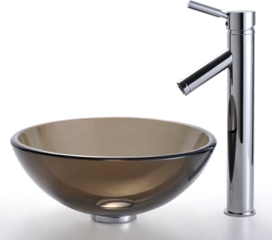 Kraus Clear Brown Series CGV1031412MM1002CH - Sheven Faucet with Chrome Finish