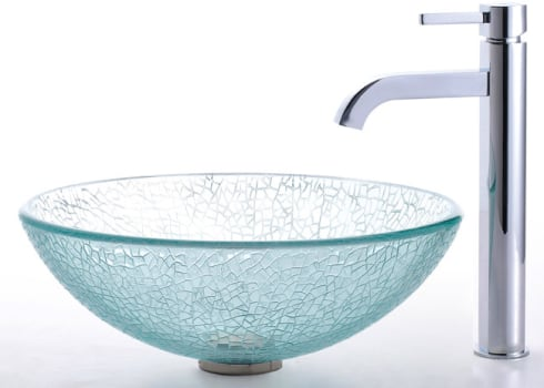 Kraus Broken Glass Series CGV50012MM1007CH - Ramus Faucet with Chrome Finish