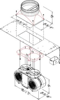 Prizer Hoods CFM1200 - 1,200 CFM Internal Blower