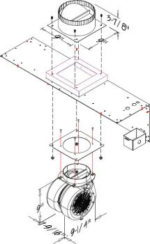 Prizer Hoods 2CFM600 - 600 CFM Internal Blower
