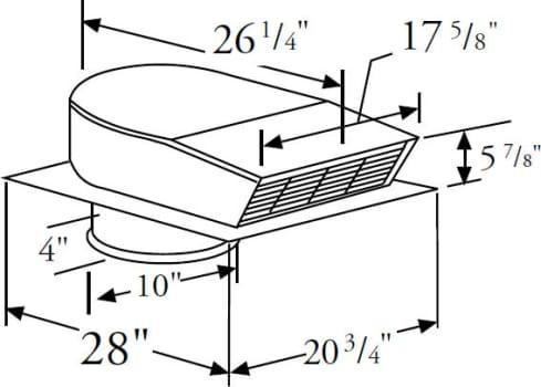Prizer Hoods CFMR1000 - 1,000 CFM External Blower