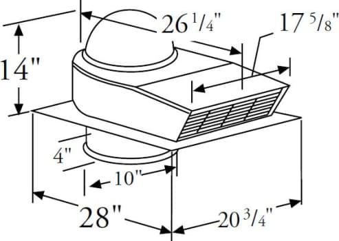 Prizer Hoods CFMR1400 - 1,400 CFM External Blower