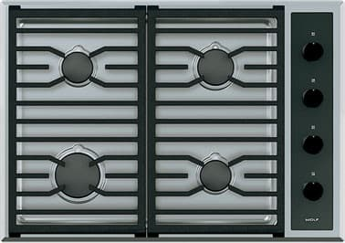 "Wolf CG304TSX - 30"" Transitional Gas Cooktop"