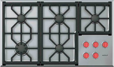 "Wolf CG365PS - 36"" Professional Gas Cooktop"