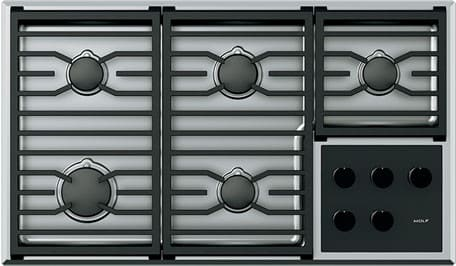 "Wolf CG365TSLP - 36"" Transitional Gas Cooktop"