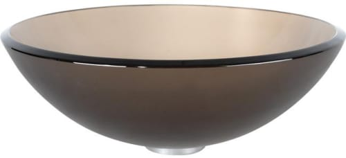 Kraus Exquisite Collection CGV103FR12MM15100CH - Frosted Brown Glass Vessel Sink
