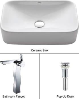 Kraus CKCV12214600CH - Ceramic Sink