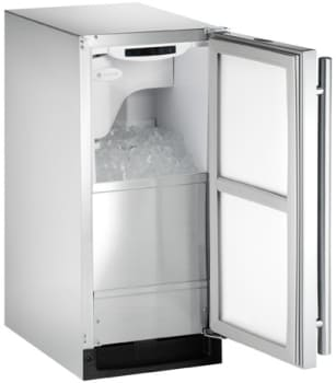U Line Outdoor Series CLR2160SOD41 - Stainless Steel Outdoor Icemaker (Right-Hand Model Pictured)