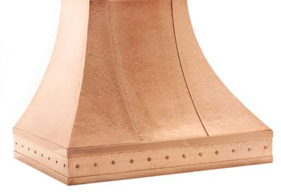 Copperworks Milano Series JS530CHP38 - Polished Smooth Texture with Rivet Straps