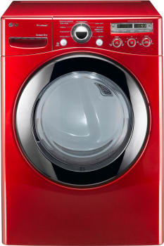 LG SteamDryer Series DLGX2651R - Wild Cherry Red