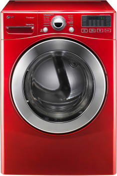 LG SteamDryer Series DLEX3070R - Wild Cherry Red