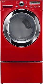 LG SteamDryer Series DLEX3250R - Wild Cherry Red