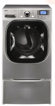 LG SteamDryer Series DLEX3875 - Graphite Steel with Optional Pedestal