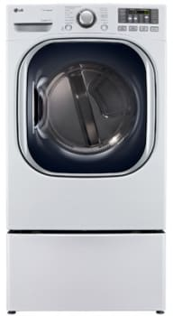 LG SteamDryer Series DLEX4070W - White