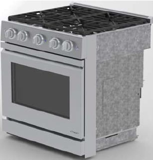 "Dacor Distinctive DR30GFISNG - 30"" Slide-in Gas Range with Flush Handle"