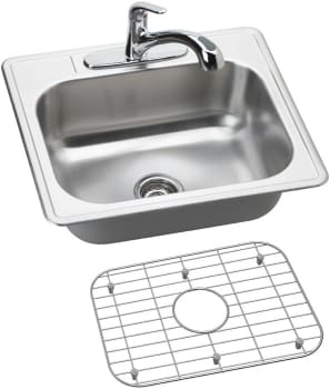 Elkay Dayton Collection DSE125223DFBG - Stainless Steel Sink Package