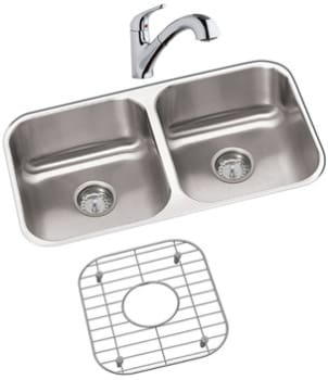 Elkay Dayton Collection DXUH3118DFBG - Stainless Steel Sink Package