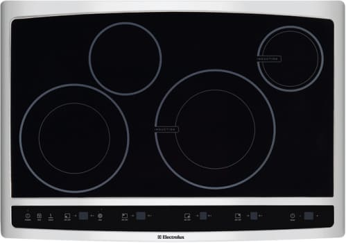 Electrolux Wave Touch Series Ew30cc55gs 30 Inch Hybrid Induction Cooktop