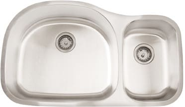 Frigidaire FRG3521D97 - 18 Gauge 304 Stainless Steel Double Bowl Undermount Sink