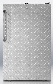 AccuCold FS408BLBIDPL - Diamond Plate Wrapped Door with Towel Bar Handle