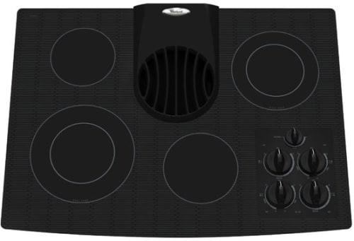 30 Inch Downdraft Electric Cooktop ~ Whirlpool gjd rb inch smoothtop electric cooktop