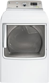 GE GTDS820GDWS - White with a Silver Backsplash