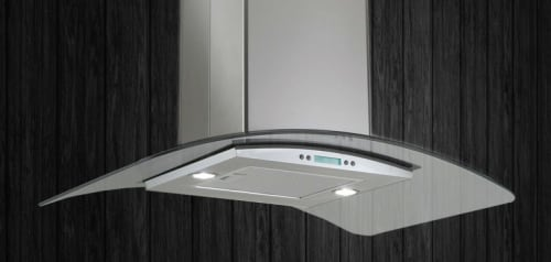 "Elica EGS436SS - 36"" Stainless Steel and Glass Island Hood"