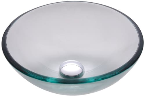 "Kraus Clear Series GV10114 - 14"" Clear Glass Vessel Sink"