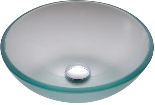 "Kraus Frosted Series GV101FR14CH - 14"" Frosted Glass Vessel Sink"