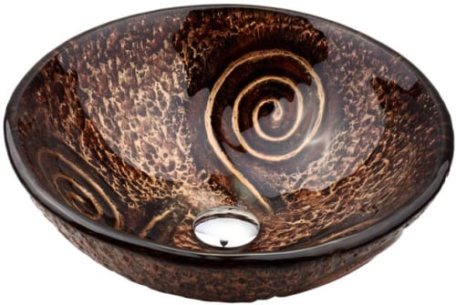 "Kraus Copper Series GV65019MM - 14"" Luna Glass Vessel Sink"