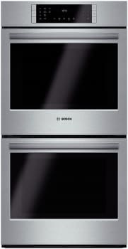 "Bosch 800 Series HBN8651UC - 27"" Double Electric Wall Oven"