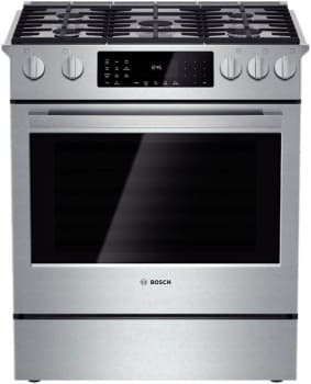 "Bosch 800 Series HDI8054U - 30"" Slide-In Dual-Fuel Range"